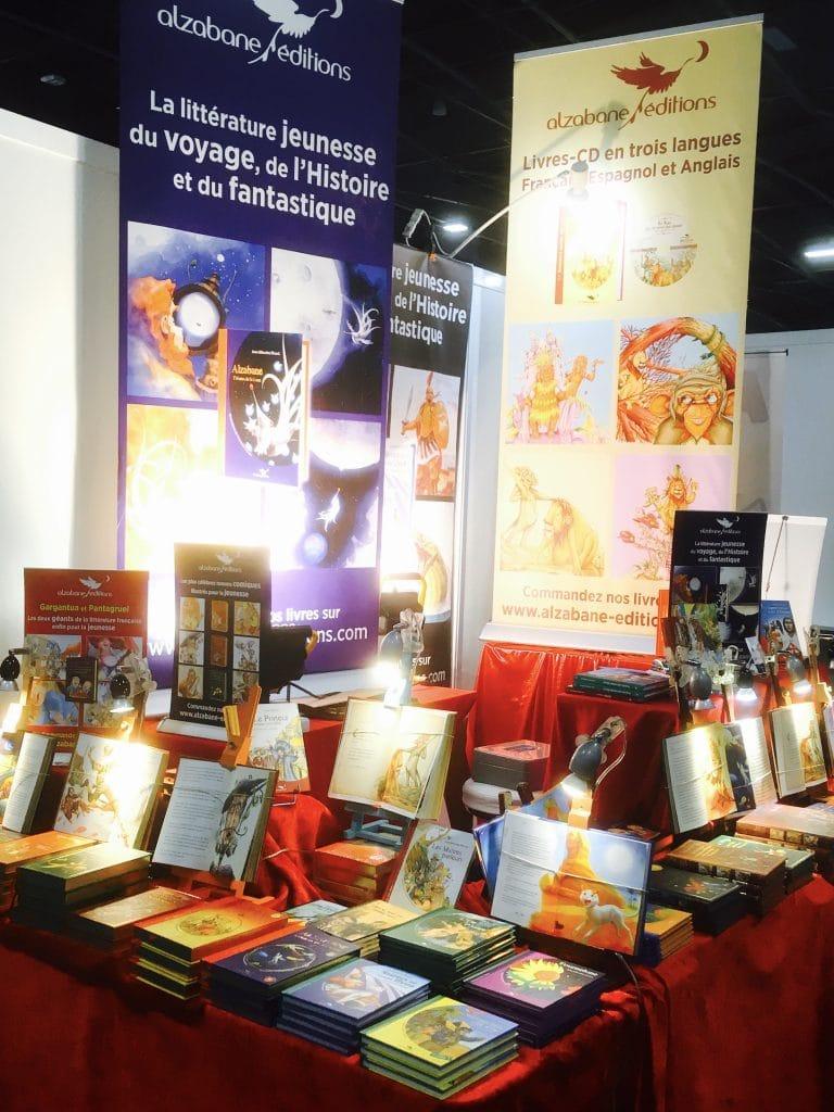 Alzabane Editions dans un salon du livre jeunesse