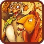 Le lion qui ne savait pas chasser sur application smartphone